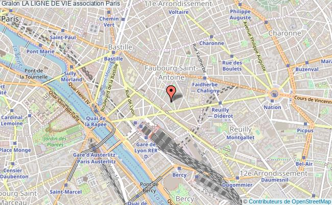 plan association La Ligne De Vie Paris