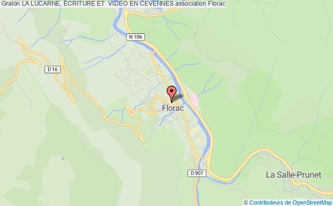 plan association La Lucarne, Écriture Et  VidÉo En Cevennes