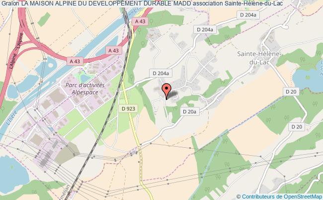plan association La Maison Alpine Du Developpement Durable Madd