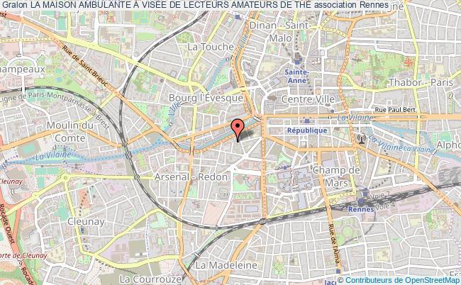 plan association La Maison Ambulante À VisÉe De Lecteurs Amateurs De ThÉ Rennes
