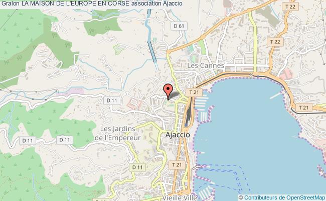 plan association La Maison De L'europe En Corse