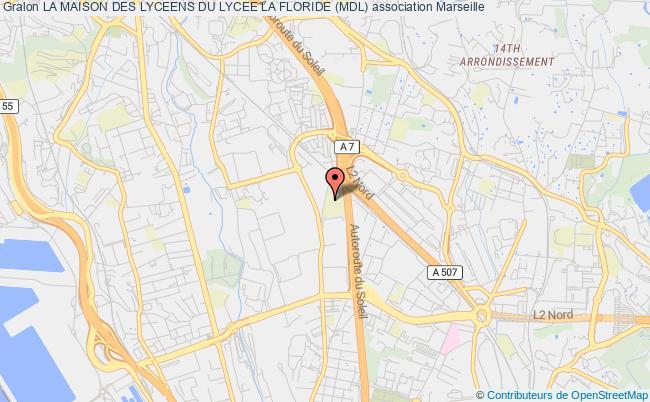 plan association La Maison Des Lyceens Du Lycee La Floride (mdl) Marseille