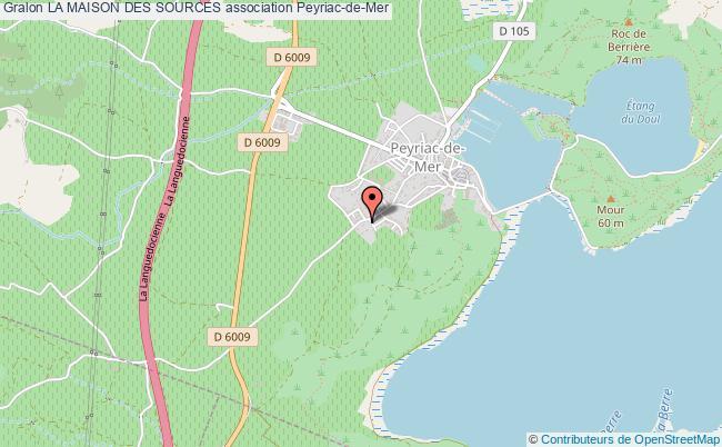 plan association La Maison Des Sources Peyriac-de-Mer