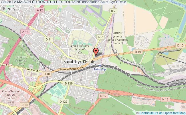 plan association La Maison Du Bonheur Des Toutains Saint-Cyr-l'École