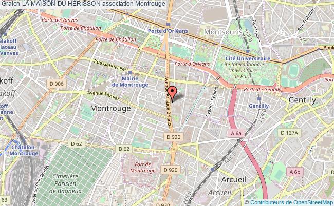 plan association La Maison Du HÉrisson Montrouge