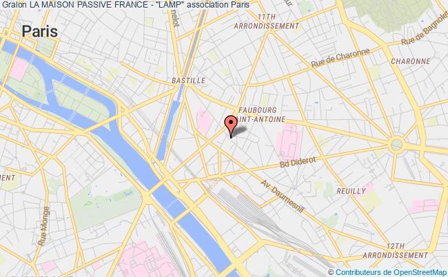 """plan association La Maison Passive France - """"lamp"""" Paris"""