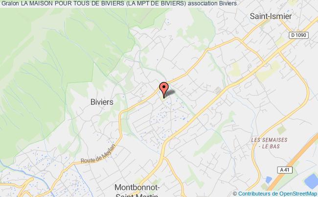 plan association La Maison Pour Tous De Biviers (la Mpt De Biviers) Biviers