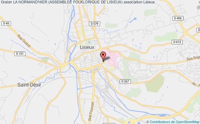 plan association La Normand'hier (assemblee Folklorique De Lisieux)