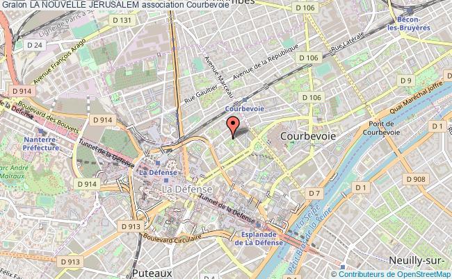 plan association La Nouvelle JÉrusalem Courbevoie
