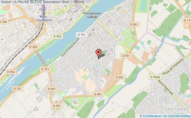plan association La Pause Bleue Blois