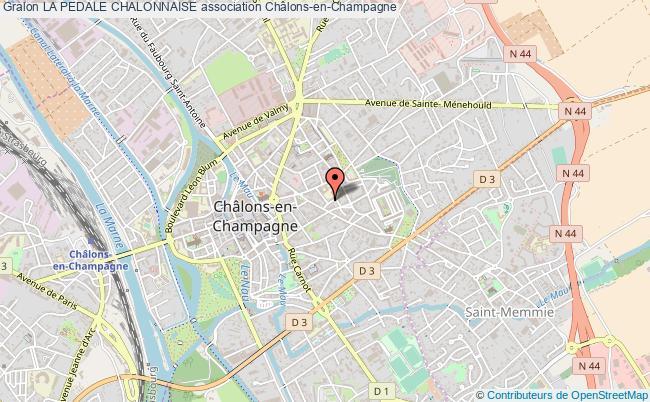 plan association La Pedale Chalonnaise
