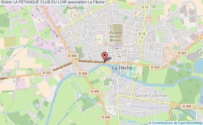 plan association La PÉtanque Club Du Loir