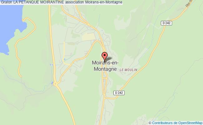 plan association La Petanque Moirantine
