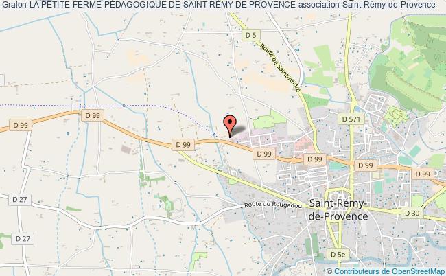 plan association La Petite Ferme PÉdagogique De Saint RÉmy De Provence