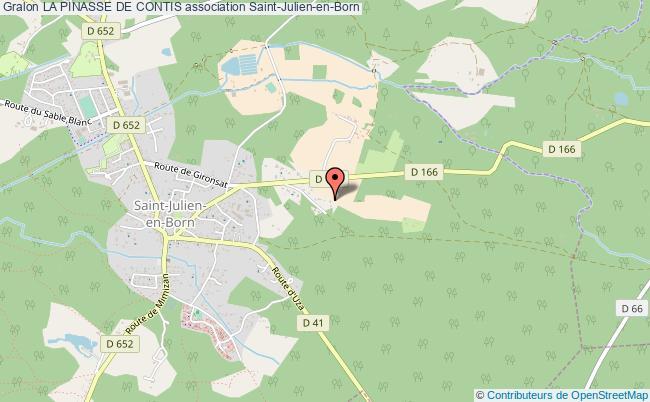 plan association La Pinasse De Contis Saint-Julien-en-Born