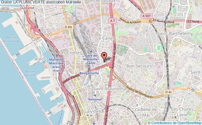 plan association La Plume Verte Marseille