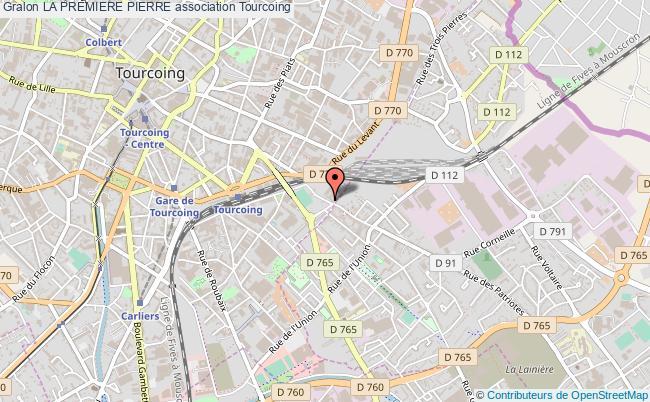 plan association La Premiere Pierre Tourcoing