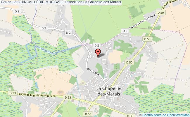 plan association La Quincaillerie Musicale La Chapelle-des-Marais