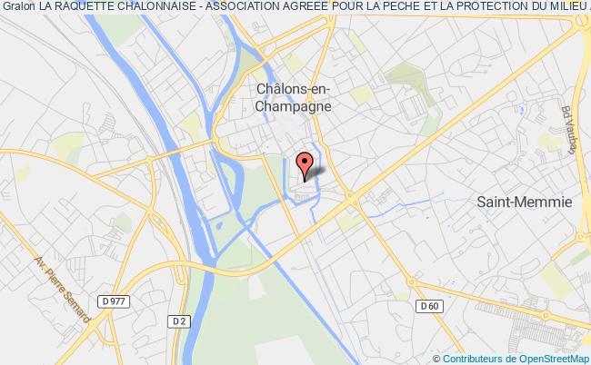 plan association La Raquette Chalonnaise - Association Agreee Pour La Peche Et La Protection Du Milieu Aquatique