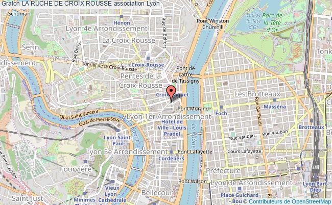 plan association La Ruche De Croix Rousse Lyon