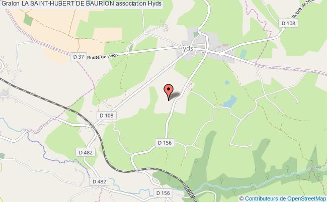 plan association La Saint-hubert De Baurion