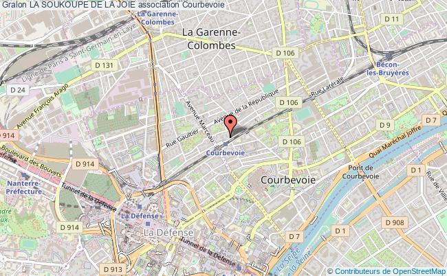 plan association La Soukoupe De La Joie Courbevoie