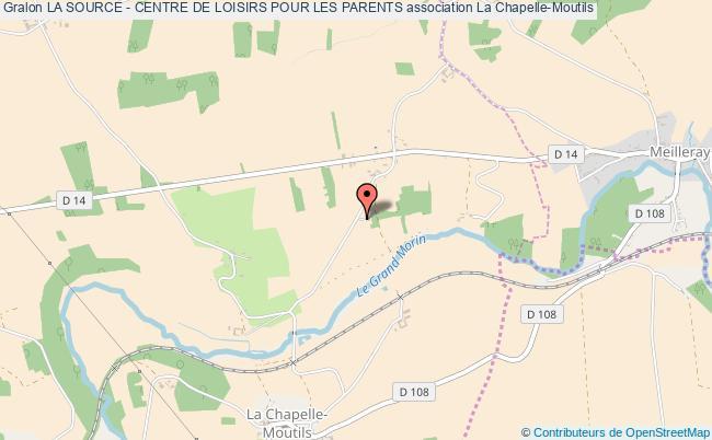 plan association La Source - Centre De Loisirs Pour Les Parents La Chapelle-Moutils