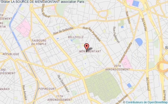 plan association La Source De Menilmontant