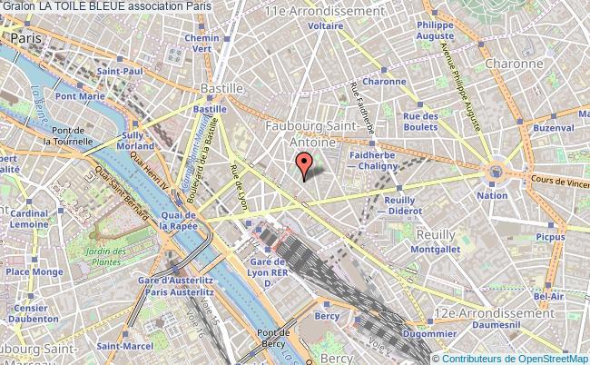 plan association La Toile Bleue Paris 12e