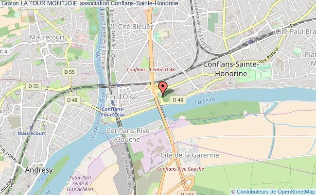 plan association La Tour Montjoie Conflans-Sainte-Honorine