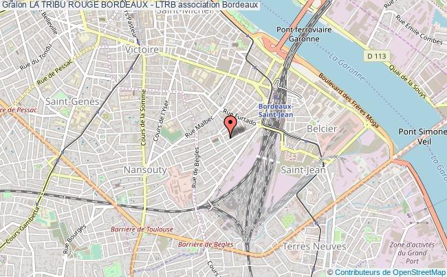 plan association La Tribu Rouge Bordeaux - Ltrb Bordeaux