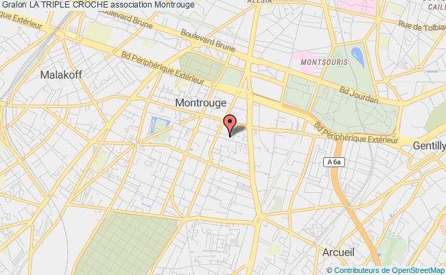 plan association La Triple Croche Montrouge