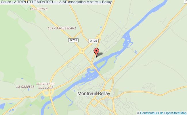 plan association La Triplette Montreuillaise Montreuil-Bellay