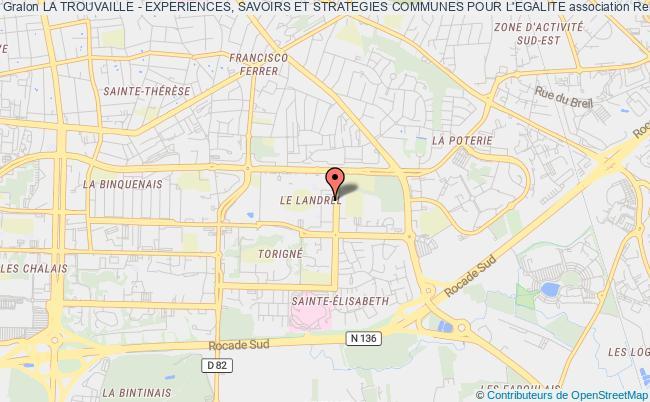 plan association La Trouvaille - Experiences, Savoirs Et Strategies Communes Pour L'egalite Rennes