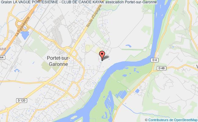 plan association La Vague Portesienne - Club De Canoe Kayak