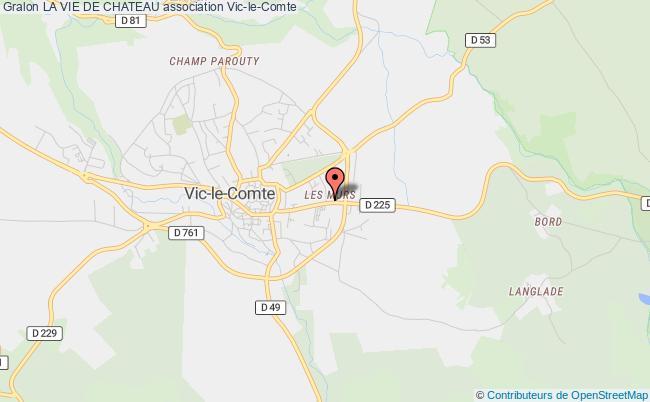 plan association La Vie De Chateau Vic-le-Comte