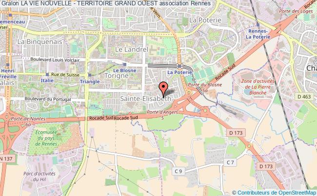 plan association La Vie Nouvelle - Territoire Grand Ouest Rennes