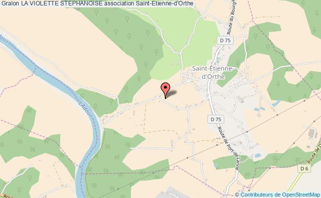 plan association La Violette Stephanoise Saint-Étienne-d'Orthe
