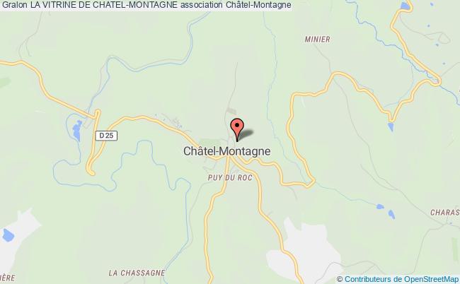 plan association La Vitrine De Chatel-montagne Châtel-Montagne