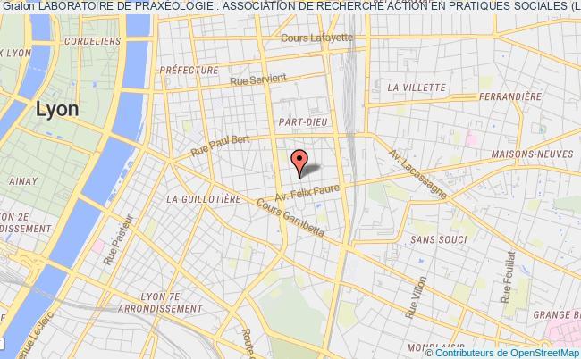 plan association Laboratoire De PraxÉologie : Association De Recherche Action En Pratiques Sociales (labopraxeo)