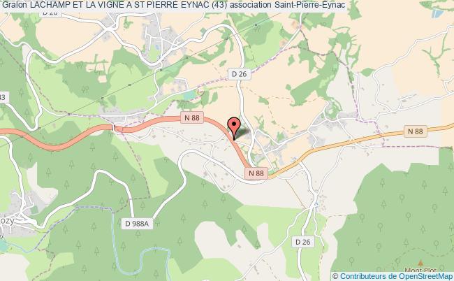 plan association Lachamp Et La Vigne A St Pierre Eynac (43) Saint-Pierre-Eynac