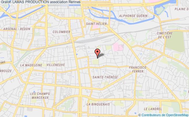 plan association Lamas Production Rennes
