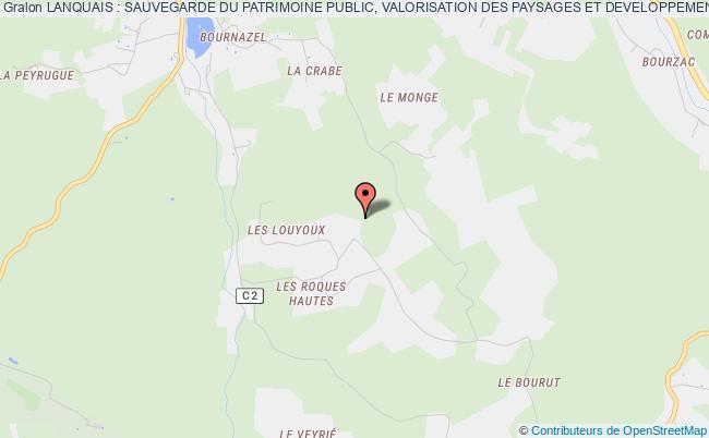 plan association Lanquais : Sauvegarde Du Patrimoine Public, Valorisation Des Paysages Et Developpement Lanquais