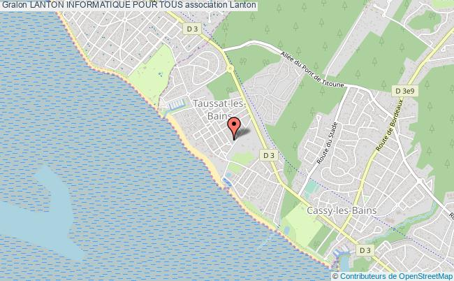 plan association Lanton Informatique Pour Tous Lanton