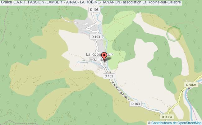 plan association L.a.r.t. Passion (lambert- Ainac- La Robine- Tanaron)