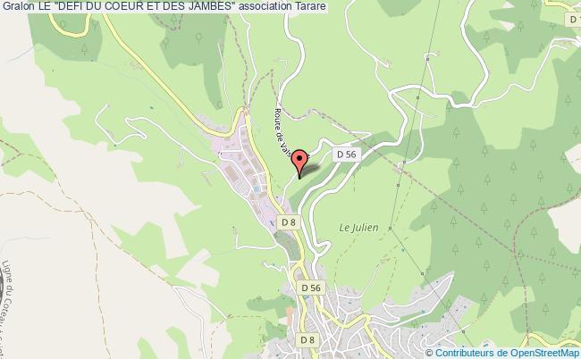 """plan association Le """"defi Du Coeur Et Des Jambes"""" Tarare"""