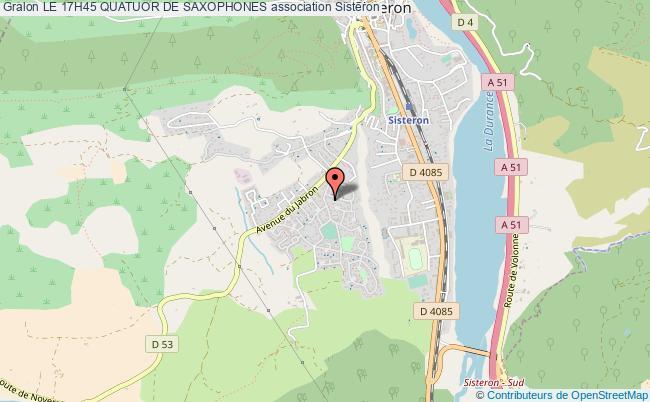 plan association Le 17h45 Quatuor De Saxophones