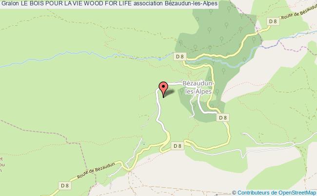 plan association Le Bois Pour La Vie Wood For Life Bézaudun-les-Alpes