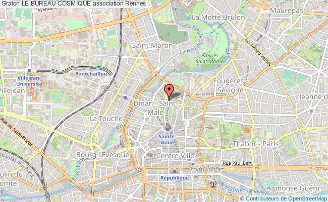plan association Le Bureau Cosmique Rennes