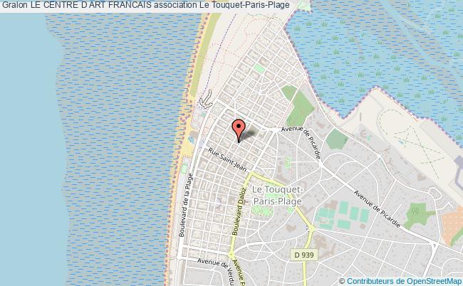 plan association Le Centre D Art Francais Le    Touquet-Paris-Plage